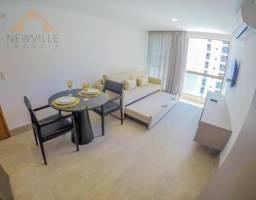 Apartamento com 1 quarto para alugar, 35 m² por R$ 3.400/mês com taxas - Boa Viagem - Reci