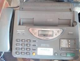Fax com scanner, telefone  e secretaria eletrônica.