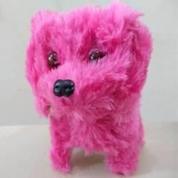 Cachorrinho Pelúcia Anda Late Cachorro Estiloso Brinquedo