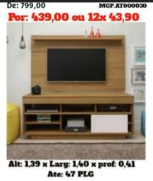 Decretado Menor Preço- Rack com Painel de televisão ou Tv até 47 Plg- Entrega Gratis