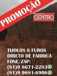 Título do anúncio: Promoção!Carrada de Tijolos 8 furos, areia lavada e brita com qualidade de luxo