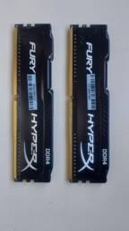 Memoria 16gb  (2x8Gb) Ddr4 2400 Hyper-x Fury Black - HX424C15F
