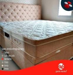 Título do anúncio: Colchão Queen size e cama box baú genki kenko / Parcelas de:
