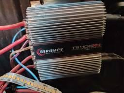 Título do anúncio: Taramps 400.4 troco Power one com volta minha