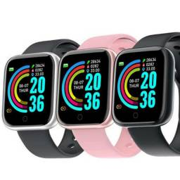 Smartwatch D20 / Y68 Relógio Inteligente - Versão Atualizada (Foto na tela)