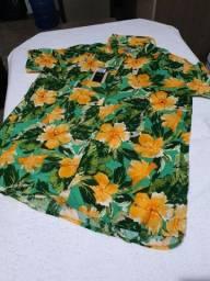 Camisa de botão florida da Pietro original G
