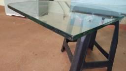 Mesa Prateleira de vidro