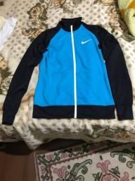 Conjunto feminino abrigo jaqueta Nike azul