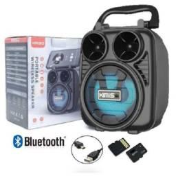 Caixa Portátil de Som Wireless Bluetooth KMS-1182 - Kimiso