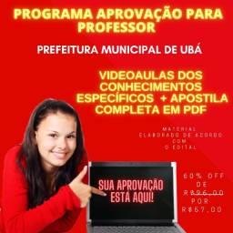 Título do anúncio: Programa Aprovação Para Professor da Prefeitura de Ubá