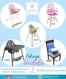 Cadeiras de Alimentação, Kit Refeição, Mordedores e muito mais para o seu bebê