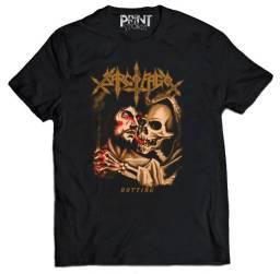 camiseta banda SARCÓFAGO(Rotting) camisa black death metal