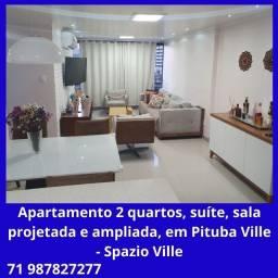 Título do anúncio: Lindo apartamento 2 quartos, suíte, projeto completo de iluminação, na Pituba