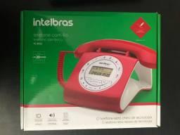 Vendo telefone fixo vermelho, novo, na caixa