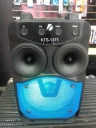 Caixa de Som Kts 1371 Bluetooth Pendrive rádio p2 completo