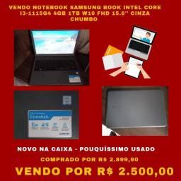 Título do anúncio: Vendo Notebook Samsung Book Intel Core I3 4GB 1TB