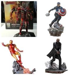 pack iron studios iron man - capitao america - nick fury