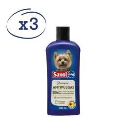 3 Shampoo Antipulgas para cachorros 500ml