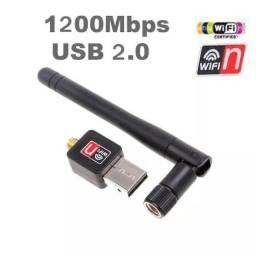 Adaptador Usb Wifi 1200mbps 2.4 Ghz Antena Wireless