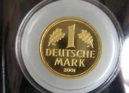 Título do anúncio: Moeda Alemã De Ouro Puro (1 Deutsche Mark)