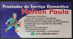 Título do anúncio: Prestador de Serviços Domésticos, Marido de aluguel