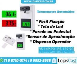 Título do anúncio: Termômetro Automático Corporal De Parede ou Pedestal Infravermelho - 32 °C a 42.9 °C
