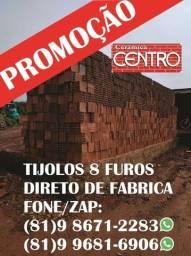 Título do anúncio: Promoção!Tijolos 8 furos, carrada de 4000 a 8000, carrada areia e brita qualidade