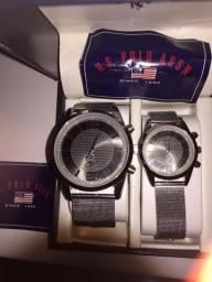 Kit com 2 relógios importadoS US POLO MIAMI