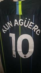 Camisa Manchester City 2018\2019 Kun Aguero Tamanho G Pronta Entrega nova na etiqueta