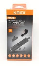 Fone De Ouvido Bluetooth Com Estojo Para Recarga Kaidi Kd-916 Novo Na Caixa