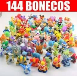 Kit 144 Miniaturas Pokemon Go coleção completa