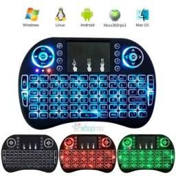 Mini teclado multimedia iluminado