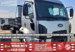Ford Cargo Prata 2428 Truck Reduzido Cabine Leito 2012 R$ 123.225,00 285456Km - 2012