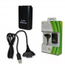 Bateria Para Controle Xbox 360 Com Cabo E Carregador