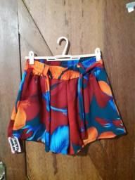 Shorts estampadinhos