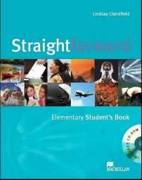Livro Apostila de Inglês StraightForward Elementary + CD Book - Completo