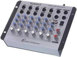 Mesa de som NanomiX 6 canais NA602R