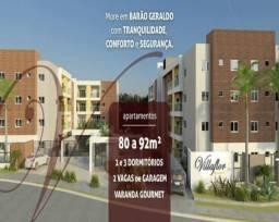 VillaFlor Aptos 2 e 3 Dorms 80 a 92m2 2 Vagas Varanda Gourmet Churrasqueira