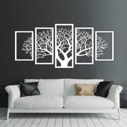 Quadro árvore da vida 5 peças