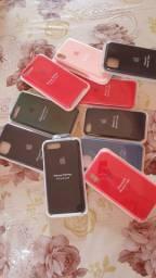 Capas de Silicone para Iphone 7/8, 7/8 Plus, Xr, 11, 11 Pro e 11 Pro Max