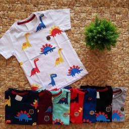 Camisa Infantil masculino dinossauro Estampas/ camisa camiseta Infantil meninos