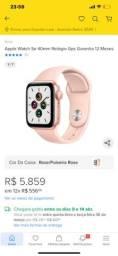 Apple Watch SE novo dourado