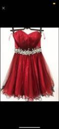 Vestido de organza +2 itens