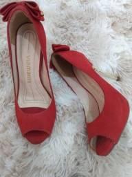 Sapato salto alto Via Marte vermelho - tamanho: 33