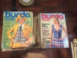 Coleção de revistas - Burda Moden - décadas de 1960 e 1970 (com moldes) completas
