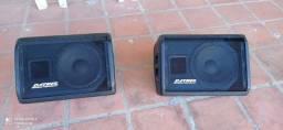 Vendo duas caixas datrel ativa passiva monitor e pedestal