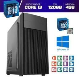 Título do anúncio: Computador i3 3º geração + 120 ssd + 4 giga Novo Parcelo no cartão