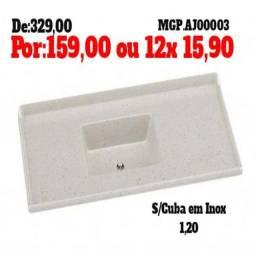 Decretador Menor Preço - Pedra de Pia 1,20 Sem Inox Lindissimo - Embalado