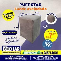 Título do anúncio: Puff Star Em Suede Aveludado, Compre no zap *