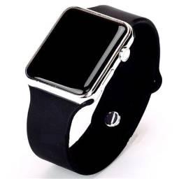 Relógio de Pulso com Pulseira de Silicone Fashion / Relógio LED Digital Esportivo Unissex